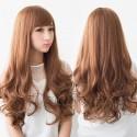 Волосы на заколках из термоволокна волнистые Detalio