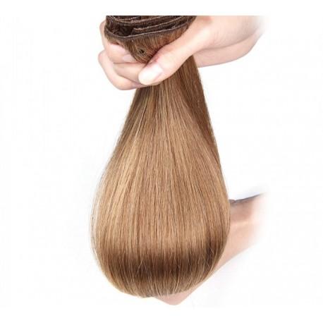 Волосы на заколках натуральные 25 см