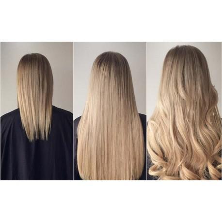 Волосы на заколках натуральные 555