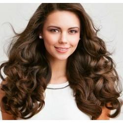 Волосы на заколках натуральные Brasilian крупная волна