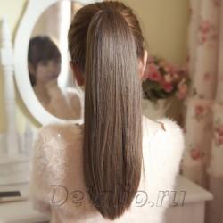 Хвост из натуральных волос на крабе 145