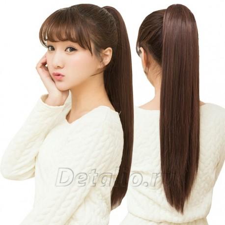 Хвост из натуральных волос на ленте 146